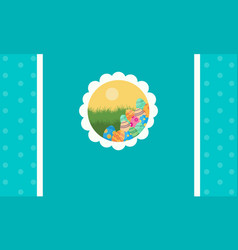 Greeting card easter style collection vector