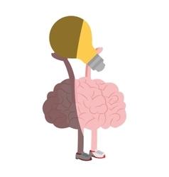 Human brain icon vector