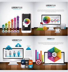 infographic statistics analysis vector image