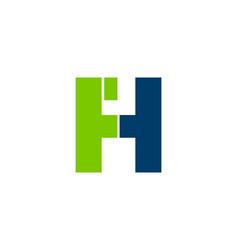 initial letter fh logo template design vector image