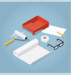 isometric home renovation vector image