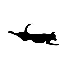 Jumping dog symbol vector