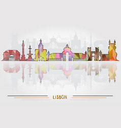 Lisbon city background vector
