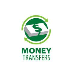 logo remittances vector image
