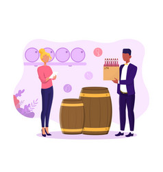 manager is accounting alcohol vector image