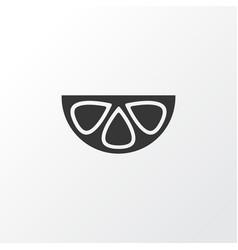 mangosteen icon symbol premium quality isolated vector image