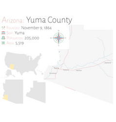 Map yuma county in arizona vector