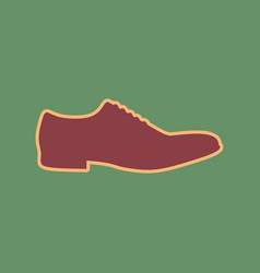 men shoes sign cordovan icon and mellow vector image