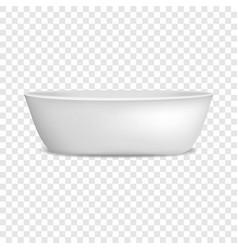 Modern bathtub mockup realistic style vector