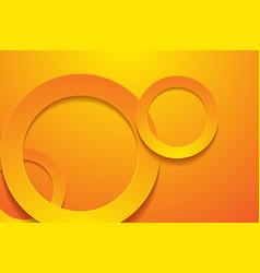 Modern orange backgrounds 3d circle papercut vector