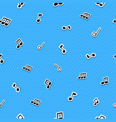 music note cartoon icon seamless pattern vector image