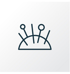 pincushion icon line symbol premium quality vector image