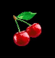 pixe art - game fruit vector image