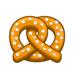 Pretzel Icon on the White Background vector image