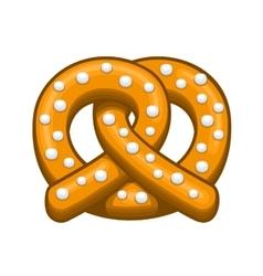 pretzel icon on white background vector image