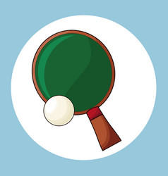 racket and ball ping pong vector image