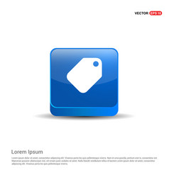 sale tag icon - 3d blue button vector image