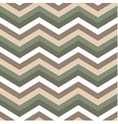 Seamless chevron pattern cute green and brawn vector