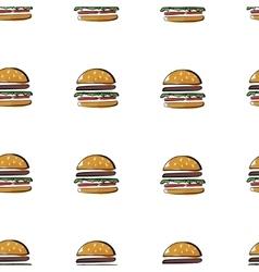 Simless burger pattern vector image