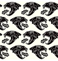 skull animal seamless pattern vector image