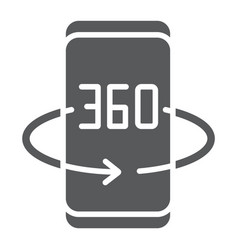 Smartphone degree glyph icon device and vector