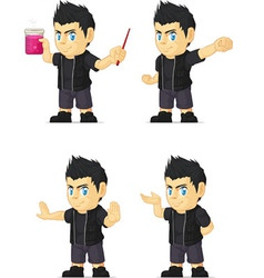 Spiky Rocker Boy Customizable Mascot 12 vector
