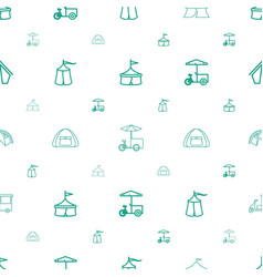 Tent icons pattern seamless white background vector