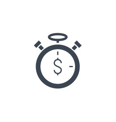time is money related glyph icon vector image