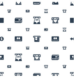 Transaction icons pattern seamless white vector