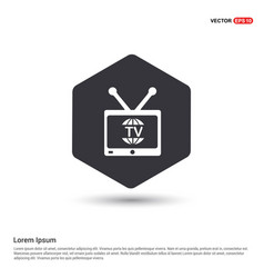tv television icon hexa white background icon vector image