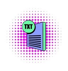 TXT file icon in comics style vector image