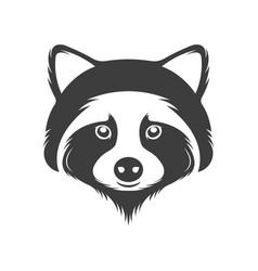 Vintage logotype a raccoon vector