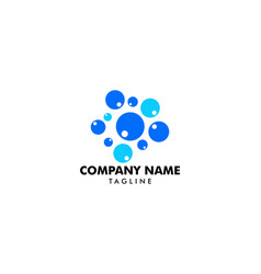 water bubbles logo template vector image