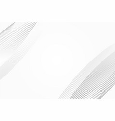 white and grey circular curve abstract background vector image