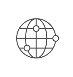 world location line outline icon vector image