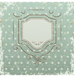 Grunge retro background with frame vector image vector image