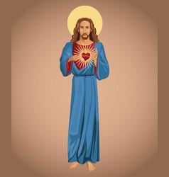 jesus christ sacred heart hope vector image