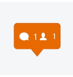 modern follow orange icon vector image vector image