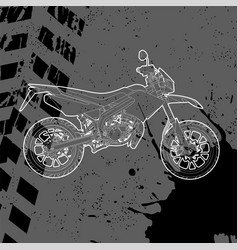 Motorcycle drawn by contour vector