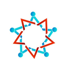 Abstract people together showing teamwork vector image