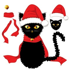 Black Cat Christmas Day vector image vector image