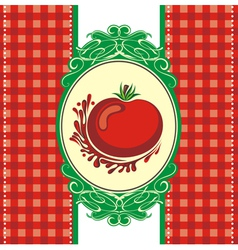 Menu design with a tomato vector image vector image