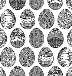 pattern with Easter eggs vector image