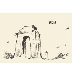 Sketch India Gate New Delhi vector image vector image
