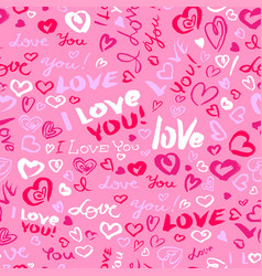 Valentines day or wedding seamless pattern with vector