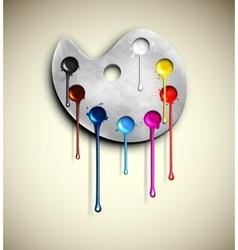 Watercolor paints vector image vector image