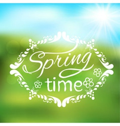abstract spring background frame vector image vector image