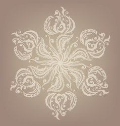 Floral oriental mandala design vector image vector image