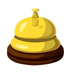 Golden reception bell icon cartoon style vector image