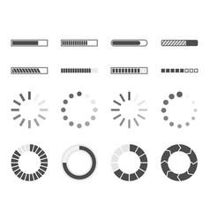Loading bar icons load progress indicator vector